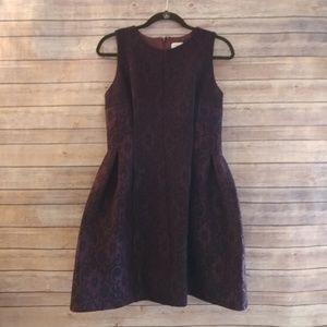 Calvin Klein burgundy lace overlay dress